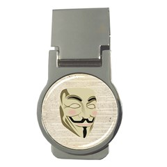 We The Anonymous People Money Clip (round)