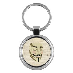 We The Anonymous People Key Chain (round)