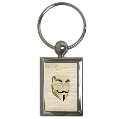We The Anonymous People Key Chain (rectangle)
