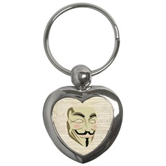 We The Anonymous People Key Chain (Heart)