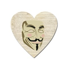 We The Anonymous People Magnet (Heart)