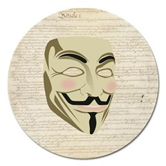 We The Anonymous People Magnet 5  (Round)