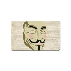 We The Anonymous People Magnet (name Card)