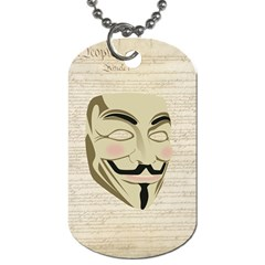 We The Anonymous People Dog Tag (One Sided)
