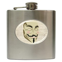 We The Anonymous People Hip Flask