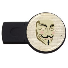 We The Anonymous People 1GB USB Flash Drive (Round)