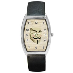 We The Anonymous People Tonneau Leather Watch