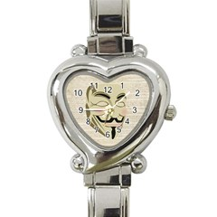 We The Anonymous People Heart Italian Charm Watch