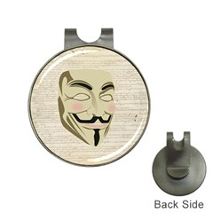 We The Anonymous People Hat Clip with Golf Ball Marker