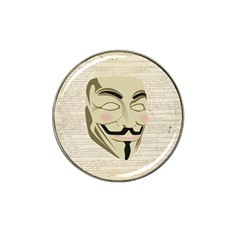 We The Anonymous People Golf Ball Marker 4 Pack (for Hat Clip)