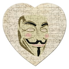 We The Anonymous People Jigsaw Puzzle (Heart)