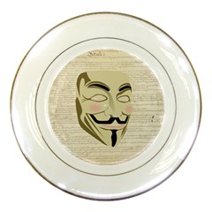 We The Anonymous People Porcelain Display Plate