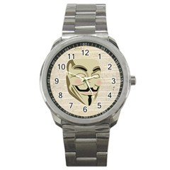 We The Anonymous People Sport Metal Watch