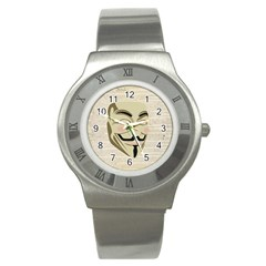 We The Anonymous People Stainless Steel Watch (Slim)