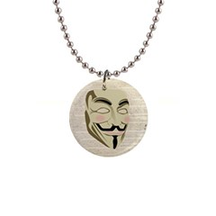 We The Anonymous People Button Necklace