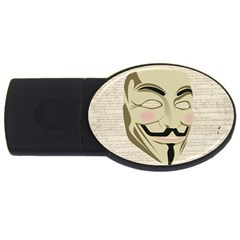 We The Anonymous People 4GB USB Flash Drive (Oval)