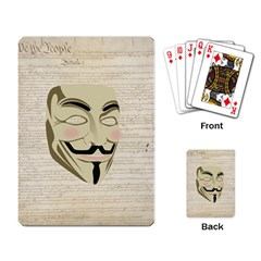 We The Anonymous People Playing Cards Single Design