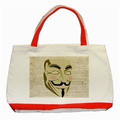 We The Anonymous People Classic Tote Bag (Red)
