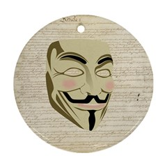 We The Anonymous People Round Ornament (two Sides)