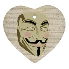 We The Anonymous People Heart Ornament (Two Sides)