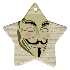 We The Anonymous People Star Ornament (two Sides)