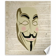 We The Anonymous People Canvas 8  x 10  (Unframed)