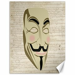 We The Anonymous People Canvas 12  x 16  (Unframed)