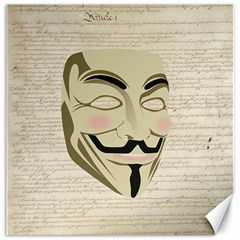 We The Anonymous People Canvas 20  x 20  (Unframed)