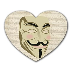 We The Anonymous People Mouse Pad (Heart)