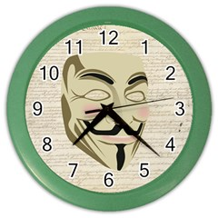 We The Anonymous People Wall Clock (Color)