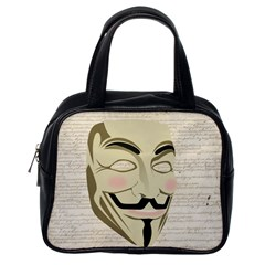 We The Anonymous People Classic Handbag (One Side)