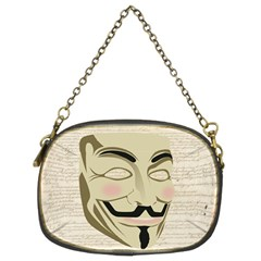 We The Anonymous People Chain Purse (two Sided)