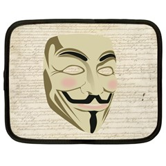 We The Anonymous People Netbook Sleeve (XL)