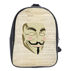 We The Anonymous People School Bag (Large)