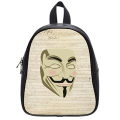We The Anonymous People School Bag (Small)