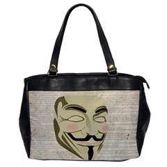 We The Anonymous People Oversize Office Handbag (One Side)