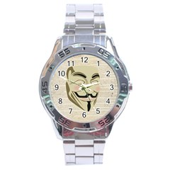 We The Anonymous People Stainless Steel Watch