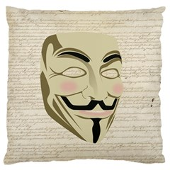 We The Anonymous People Large Cushion Case (Two Sided)