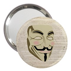 We The Anonymous People 3  Handbag Mirror