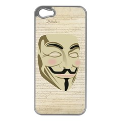We The Anonymous People Apple iPhone 5 Case (Silver)