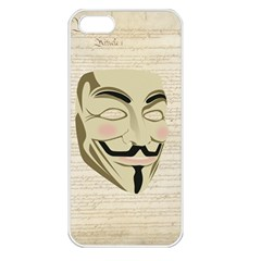 We The Anonymous People Apple Iphone 5 Seamless Case (white)