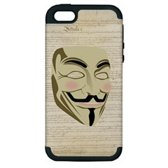 We The Anonymous People Apple Iphone 5 Hardshell Case (pc+silicone)