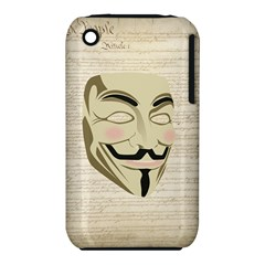 We The Anonymous People Apple iPhone 3G/3GS Hardshell Case (PC+Silicone)
