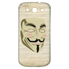 We The Anonymous People Samsung Galaxy S3 S Iii Classic Hardshell Back Case