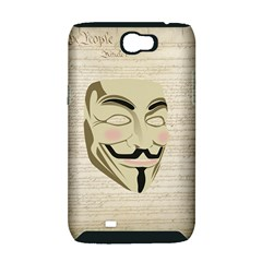 We The Anonymous People Samsung Galaxy Note 2 Hardshell Case (PC+Silicone)