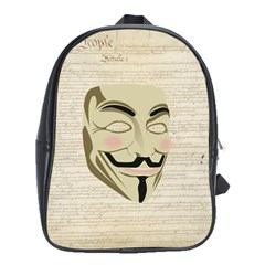 We The Anonymous People School Bag (XL)