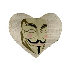 We The Anonymous People 16  Premium Heart Shape Cushion