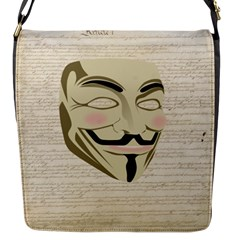 We The Anonymous People Flap Closure Messenger Bag (Small)