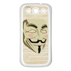 We The Anonymous People Samsung Galaxy S3 Back Case (White)