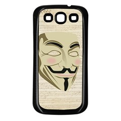 We The Anonymous People Samsung Galaxy S3 Back Case (Black)